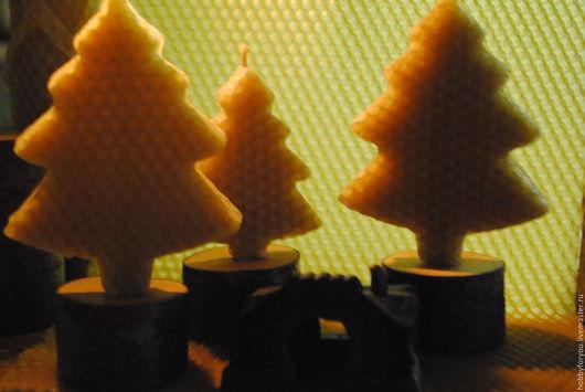 """Свечи ручной работы. Ярмарка Мастеров - ручная работа. Купить Свеча  """"В ночь под Рождество"""". Handmade. Желтый"""