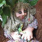 Куклы и игрушки ручной работы. Ярмарка Мастеров - ручная работа Авторская чулочная кукла Кикимора болотная. Handmade.