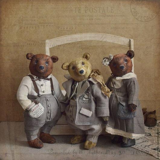 Мишки Тедди ручной работы. Ярмарка Мастеров - ручная работа. Купить Венди Браун.. Handmade. Коричневый, мишка в платье, хлопок