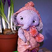 Тедди Зверята ручной работы. Ярмарка Мастеров - ручная работа Тедди слоник Вилли. Handmade.