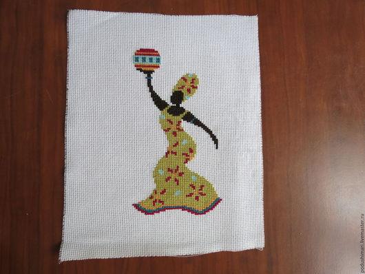 Люди, ручной работы. Ярмарка Мастеров - ручная работа. Купить Африканка. Handmade. Оливковый, Вышивка крестом, африка, африканка