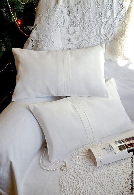 """Текстиль, ковры ручной работы. Ярмарка Мастеров - ручная работа. Купить Декоративная подушка """"Совершенство"""".. Handmade. Белый, кровать, хлопок"""