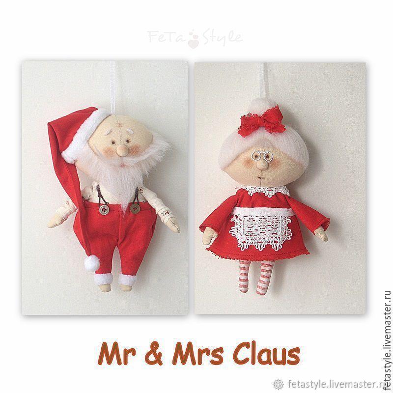 Mr & Mrs Claus Petite dolls, Dolls, Velikiy Novgorod,  Фото №1