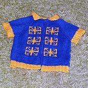 Работы для детей, ручной работы. Ярмарка Мастеров - ручная работа Вязаный детский жилет с оберегами. Handmade.