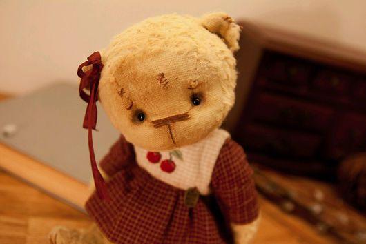 Мишки Тедди ручной работы. Ярмарка Мастеров - ручная работа. Купить Лёля.. Handmade. Черешня, мишка тедди, коллекционные медведи