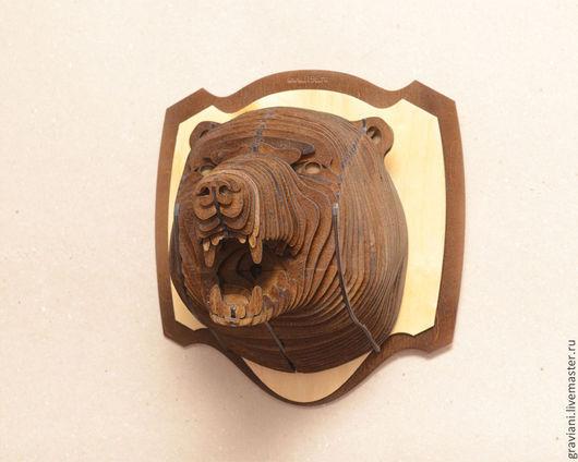 """Элементы интерьера ручной работы. Ярмарка Мастеров - ручная работа. Купить """"Трофей"""" - Медведь. Handmade. Коричневый, подарок на любой случай"""