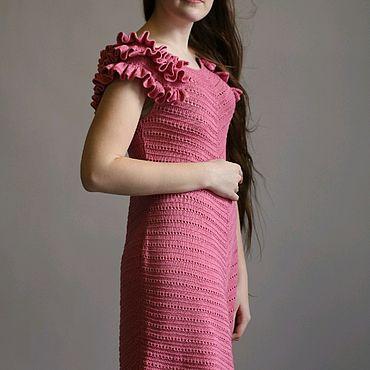 """Одежда ручной работы. Ярмарка Мастеров - ручная работа Платье """"брусничный джем"""" из 100% хлопка. Handmade."""