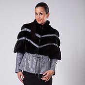 Одежда handmade. Livemaster - original item Jacket Mink with Leather Diagonal. Handmade.