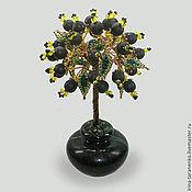 Цветы и флористика handmade. Livemaster - original item Tree good luck shungite in a vase of onyx. Handmade.