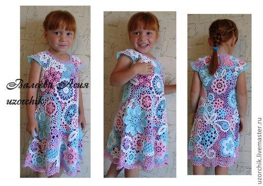 Одежда для девочек, ручной работы. Ярмарка Мастеров - ручная работа. Купить Платье детское Полянка. Handmade. Нарядное платье, для девочки