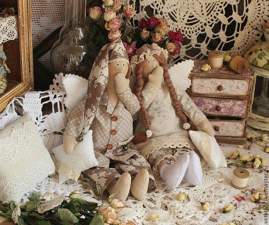 Куклы Тильды ручной работы. Ярмарка Мастеров - ручная работа. Купить ангелы сладких снов в стиле тильда сплюшки куклы текстильные. Handmade.