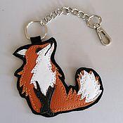 Сумки и аксессуары handmade. Livemaster - original item Pendant.Leather keychain. suspension bag. Leather pendant.Fox. Handmade.