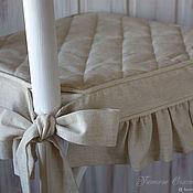 Чехлы и кофры ручной работы. Ярмарка Мастеров - ручная работа Сидушка чехол на стул с рюшами в винтажном стиле. Handmade.