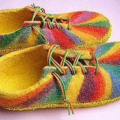 Обувь ручной работы. Ярмарка Мастеров - ручная работа туфли Радуга. Handmade.