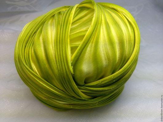 Для украшений ручной работы. Ярмарка Мастеров - ручная работа. Купить №79 Волнистый попугайчик  Ленты Шибори Silk Ribbons Shibori. Handmade.