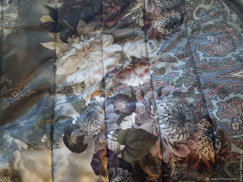 Снова в продаже! Курточная с утеп-лем премиум-класса  с цветами, Ткани, Курск,  Фото №1