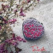 Mirror handmade. Livemaster - original item Pocket mirror with flowers