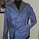 Верхняя одежда ручной работы. Куртка с капюшоном валяная. Нурия Ахметова. Интернет-магазин Ярмарка Мастеров. Абстрактный, шерсть меринос