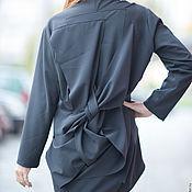 Одежда handmade. Livemaster - original item Black, stylish long sleeve blouse - TU0514PLV. Handmade.