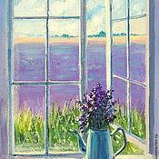 Картины и панно handmade. Livemaster - original item Oil painting on canvas. Serenity lavender morning. Handmade.