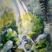 Картины и панно handmade. Livemaster - original item Waterfall in the mountains.. Handmade.