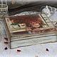 """Шкатулки ручной работы. Ярмарка Мастеров - ручная работа. Купить Шкатулка """"Французские розы"""". Handmade. Шебби-шик, розы, подарок"""
