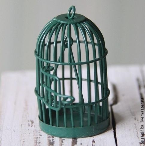Для украшений ручной работы. Ярмарка Мастеров - ручная работа. Купить Подвеска Клетка темно-зеленая (1шт). Handmade. Клетка