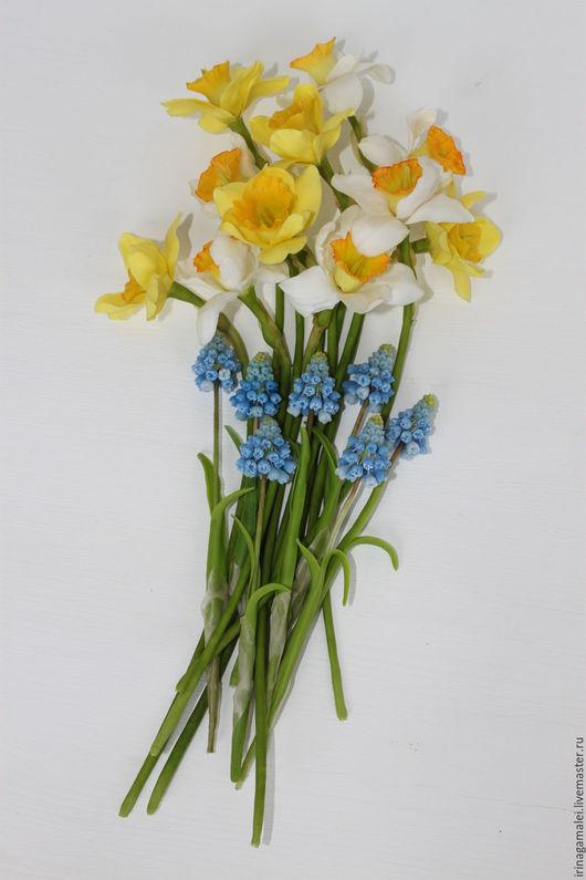 """Цветы ручной работы. Ярмарка Мастеров - ручная работа. Купить """"Весна"""". Handmade. Желтый, сделано руками, работа на заказ"""