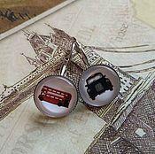 Украшения handmade. Livemaster - original item Earrings London transport (light silver). Handmade.