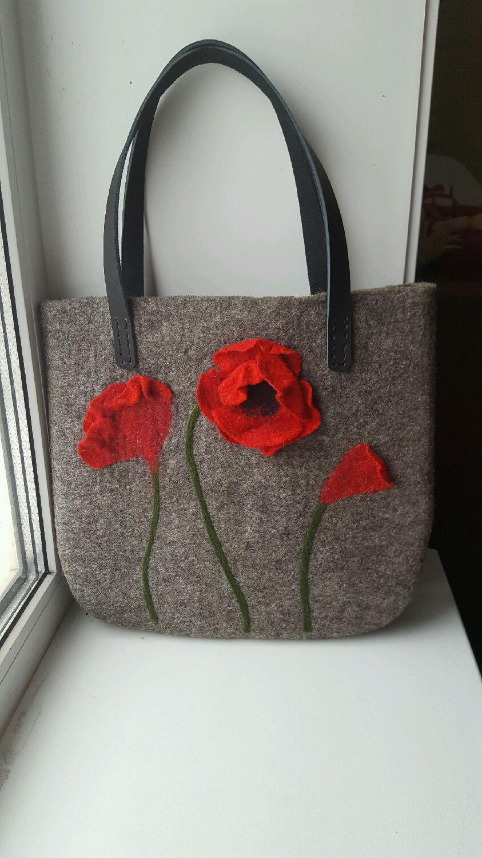 Bag Of Felt Quot Poppies Quot купить на Ярмарке Мастеров