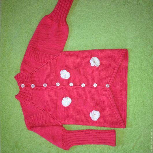 Для подростков, ручной работы. Ярмарка Мастеров - ручная работа. Купить свитер детский. Handmade. Розовый, свитер вязаный