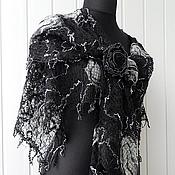 Аксессуары handmade. Livemaster - original item Openwork shawl - moonlight Serenade. Handmade.