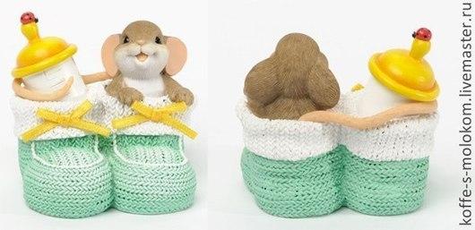 Материалы для косметики ручной работы. Ярмарка Мастеров - ручная работа. Купить Силиконовая форма для мыла Мышка в пинетках. Handmade.