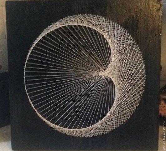 Медитация ручной работы. Ярмарка Мастеров - ручная работа. Купить Луна. Handmade. Белый, стринг арт, символизм, сакральная геометрия