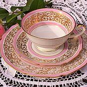 Винтаж handmade. Livemaster - original item Hutschenreuther (1914-1934.) Pink, tea trio.Germany.. Handmade.
