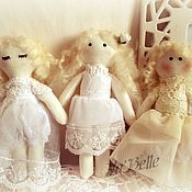 Куклы и игрушки ручной работы. Ярмарка Мастеров - ручная работа Куколки с сердечком. Handmade.