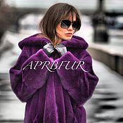 Норковая шуба APRB цвет ultra violet