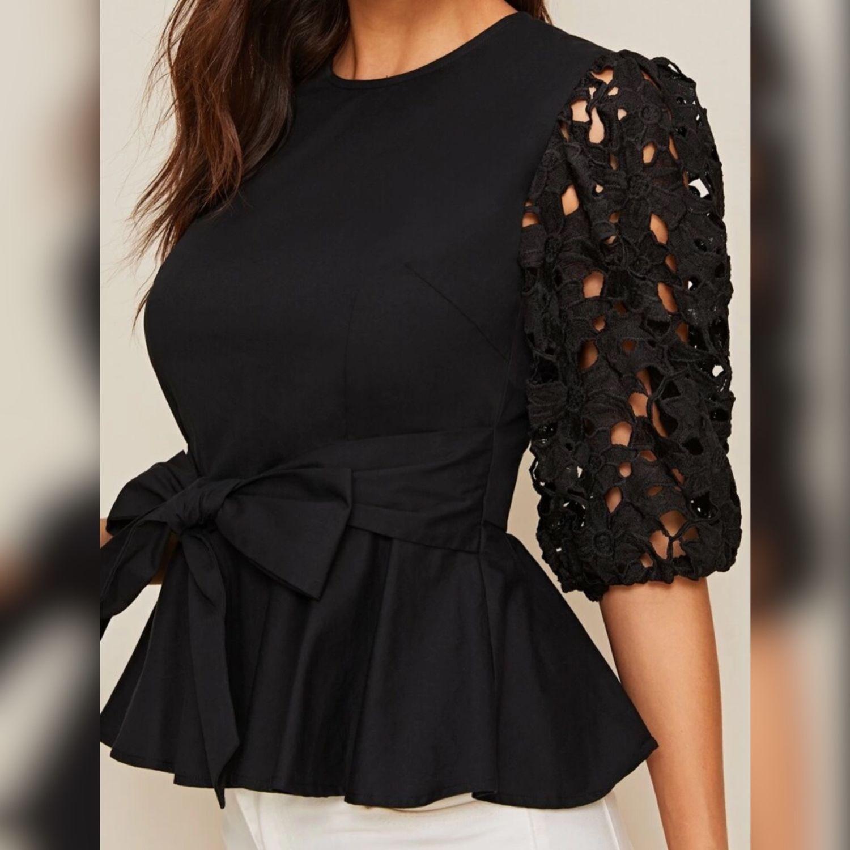 Блузка с кружевными рукавами, Блузки, Москва,  Фото №1