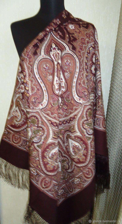 платок павлов посад с мехом
