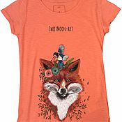 """Одежда ручной работы. Ярмарка Мастеров - ручная работа Футболка """"Forest Fox"""". Handmade."""