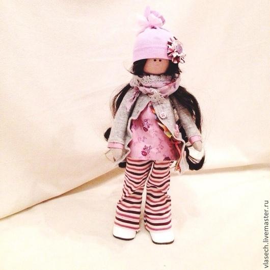 Коллекционные куклы ручной работы. Ярмарка Мастеров - ручная работа. Купить Текстильная кукла. Handmade. Серый, трикотажная шапка