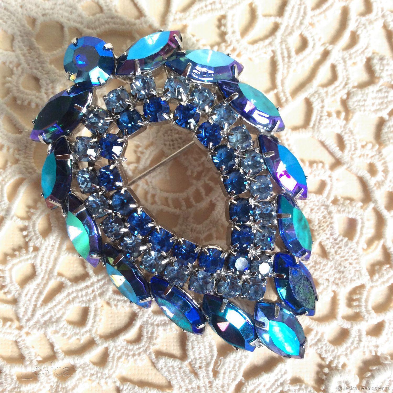 The blue lagoon brooch Julianna D&E for Sarah Cov, USA 1964, Vintage brooches, Ramenskoye,  Фото №1