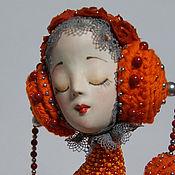 Куклы и игрушки ручной работы. Ярмарка Мастеров - ручная работа Апельсиновая Птичка. Handmade.