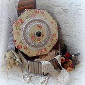 """Для дома и интерьера ручной работы. Ярмарка Мастеров - ручная работа Короб большой восьмигранный """"Цветы запоздалые"""". Handmade."""