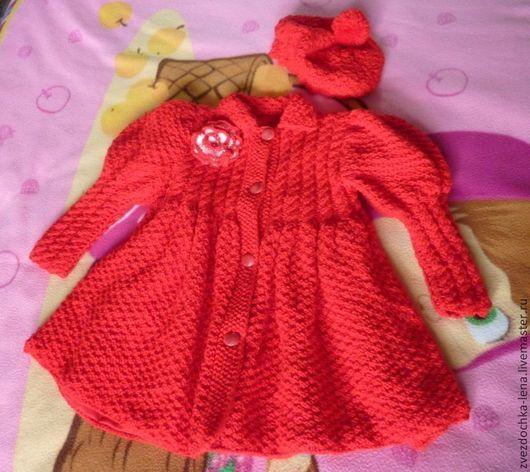 """Одежда для девочек, ручной работы. Ярмарка Мастеров - ручная работа. Купить Пальто """"Красная шапочка"""". Handmade. Ярко-красный"""