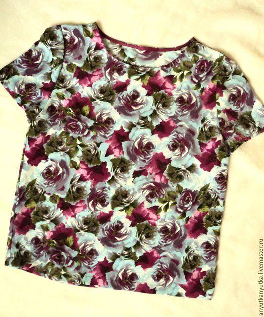 Блузки ручной работы. Ярмарка Мастеров - ручная работа. Купить Блузка. Handmade. Фиолетовый, блузка нарядная, плательные ткани
