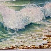 """Картины и панно ручной работы. Ярмарка Мастеров - ручная работа """"Прибой"""".Пейзаж моря.Картина маслом.Море.. Handmade."""