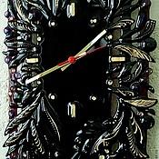 """Для дома и интерьера ручной работы. Ярмарка Мастеров - ручная работа Ажурные стеклянные часы """"Сияние ночи"""", фьюзинг. Handmade."""