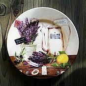 """Тарелки ручной работы. Ярмарка Мастеров - ручная работа Тарелка """"Лавандовое утро"""". Handmade."""