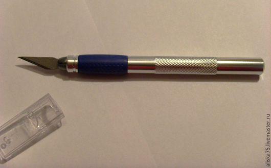 Аппликации, вставки, отделка ручной работы. Ярмарка Мастеров - ручная работа. Купить Нож с перовым лезвием 4909. Handmade. Серебряный